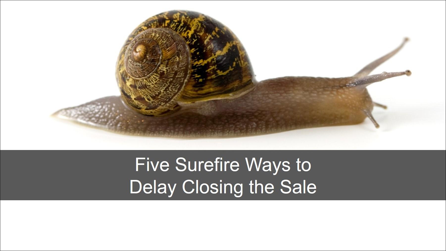 Blog 20190726 - Five Surefire Ways