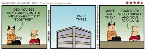 Dilbert Spreadsheets