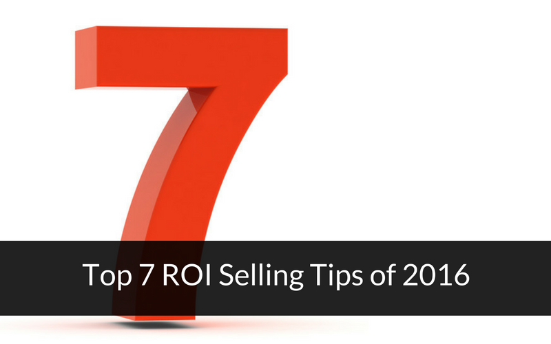 roi selling tips 2016
