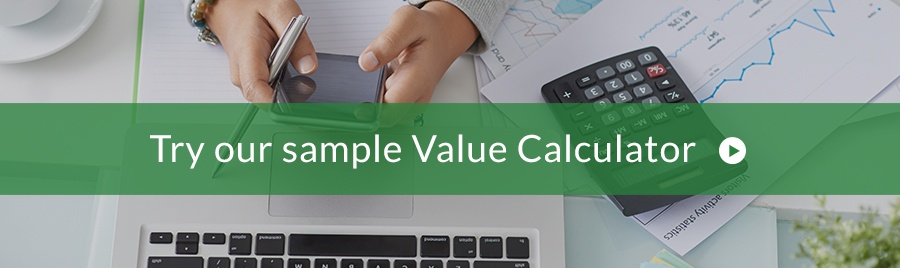 Try sample value calculator from ROI Selling