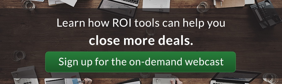 Learn how ROI Tools can help you close more deals- join the ROI selling webinar